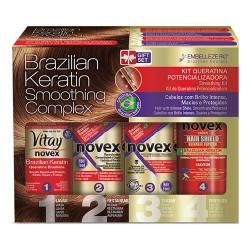 Kit tratamiento de keratina Novex Queratina Brasileña cauterización 400ml