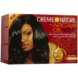 Kit de alisado permanente Creme of Nature regular con argan 201g