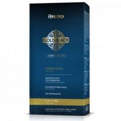 Kit de alisado permanente Gold Black Miel suave con keratina 180g