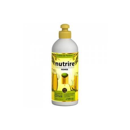 Crema de peinar Novex Oliva cabello hidratado, suave y lleno de brillo 300g