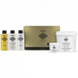 Kit de alisado permanente Gold Black con guanidina y creatina 425ml