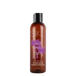 Champú Silk Oil of Morocco cabellos rubios con argán sin sal 250ml