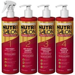 Pack alisado Nutri Salon Queratina Brasileña 4x500ml