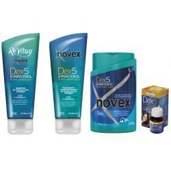 Pack queratina Novex Dex5 D-Pantenol 4 productos