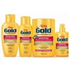 Pack Niely Gold Reparación Intensiva con queratina y argán 4 productos