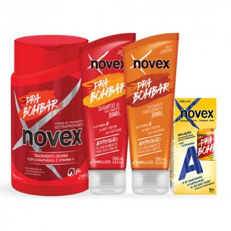 Pack tratamiento Novex Para Bombar 4 productos